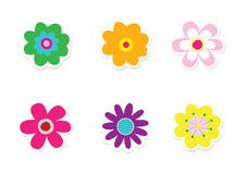 Flower Stickers Royalty Free Stock Photos