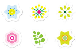 Flower Stickers Stock Images