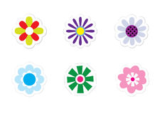 Flower Stickers Royalty Free Stock Photo