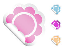 Flower Stickers Stock Photography