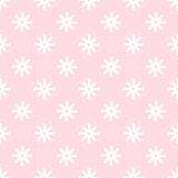 Flower stitches vector seamless pattern, geometric abstract background of pink and white color. Modern simple line Royalty Free Stock Photos