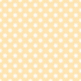 Flower stitches vector seamless pattern, geometric abstract background of yellow and white color. Modern simple line Royalty Free Stock Photo