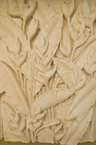 Flower of stone carving hand made Royalty Free Stock Photo