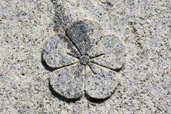Flower stone Royalty Free Stock Photo