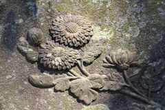 Flower stone carving Stock Image