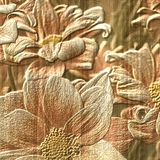 Flower stone relief background Royalty Free Stock Photo
