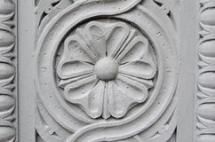 Flower stone sculpture Stock Image