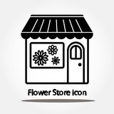 Flower store icon. Isolated on white background Stock Images