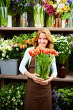 In flower store Royalty Free Stock Images