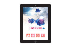 Flower Store Template for mobile app and website design Royalty Free Stock Image