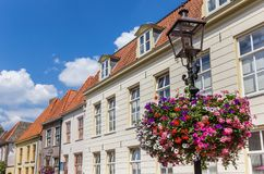 Flower on a street light in Doesburg. Netherlands royalty free stock photo