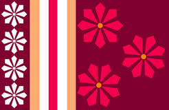 Flower Stripe Royalty Free Stock Images