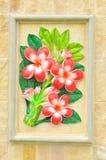 Flower stucco. Thai style on the Wall Stock Photos