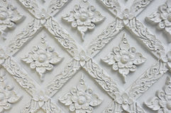 Flower stucco of Wat Se Nas. Phitsanulok, Thailand Royalty Free Stock Photo