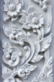 Flower stucco of Wat Se Nas. Phitsanulok, Thailand Stock Photography