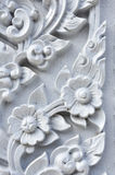 Flower stucco of Wat Se Nas Royalty Free Stock Photos