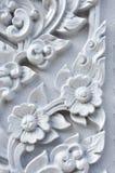 Flower stucco of Wat Se Nas. Phitsanulok, Thailand Royalty Free Stock Photos