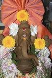 Flower Studded Ganesha Idol Royalty Free Stock Images