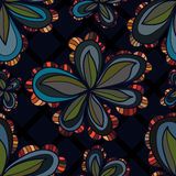 Flower style ball seamless pattern Royalty Free Stock Images