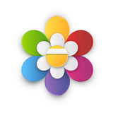 Flower style infographic chart options menu Royalty Free Stock Photo