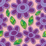 Flower style snail seamless pattern Royalty Free Stock Photography