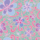 Flower style swirl seamless pattern Royalty Free Stock Photos
