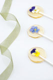 Flower sugar stick Royalty Free Stock Photo
