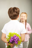 Flower surprise for love Royalty Free Stock Image