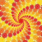 Flower Swirl Background. Red Orange and Yellow Flower Swirl Background Stock Image