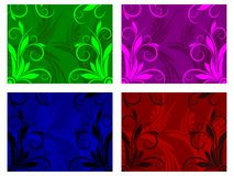 Flower and Swirl Design Background Royalty Free Stock Images