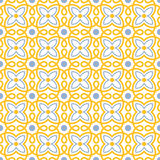 Flower swirl tile seamless pattern Stock Images