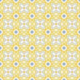 Flower swirl tile seamless pattern stock images