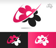 Flower Swoosh Icons Stock Photography