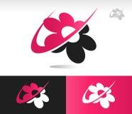 Flower Swoosh Icons Stock Photography