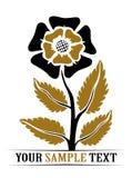 Flower symbol Stock Image