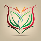 Flower symbol in the abstract. Vector illustration Stock Image