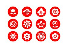 Flower symbols Stock Image