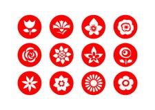 Flower symbols Stock Image