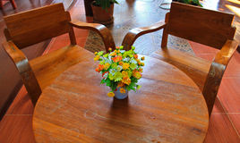 Flower on Table. Hotel hall in  Loei thailand Stock Image