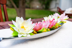 Flower table centerpiece  Royalty Free Stock Photos