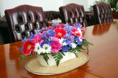 Flower table decoration Royalty Free Stock Images