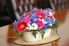 Flower table decoration Stock Photo