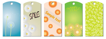 Flower tags Stock Images