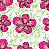 Flower tail touch seamless pattern Royalty Free Stock Photos