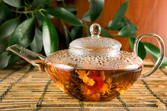 Flower Tea Stock Photo