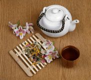 Flower tea Stock Photography