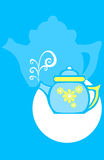 Flower Tea Pot Stock Photography