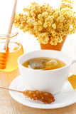 Flower tea with sugar Stock Photography