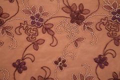 Flower textile brown texture Stock Image