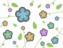 Flower texture. Illustration of flowers on white background. EPS file available Stock Images